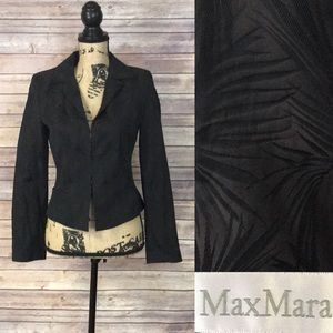 MaxMara Black Tropical Design Blazer